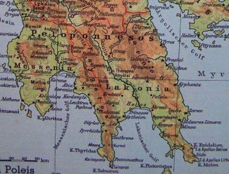 Die Landschaften Lakonien und Messenien im Süden der Halbinsel Peloponnes