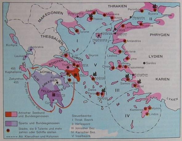 Attischer Seebund um 450 v.Chr.