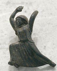 Bronzefigurine eines tanzenden Mädchens, erste Hälfte 5. Jh., peloponnesisch, evtl. lakonisch (Quelle: Wikipedia)