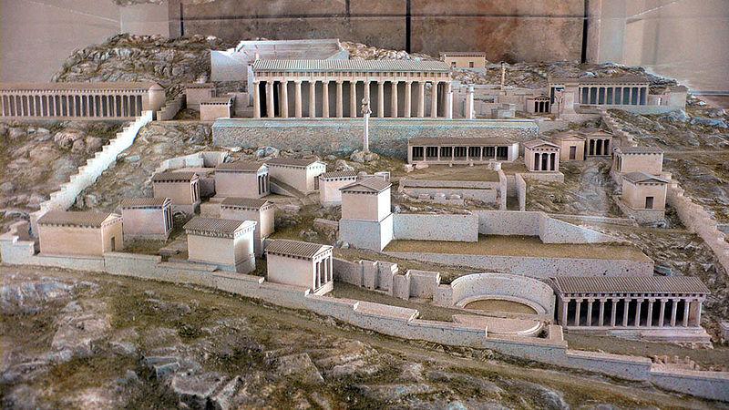 Delphi: Rekonstruktion des heiligen Bezirks (Quelle: wikipedia)