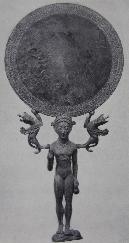 Lakonischer Handspiegel aus Bronze