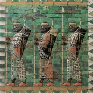 Persische Soldaten der königlichen Leibwache