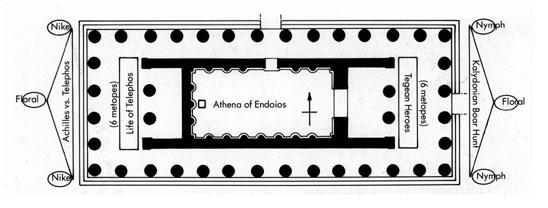 Tegea: Grundriss des Tempels der Athena Alea