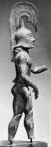 Lakonischer Bronzehoplit, um 575, Fundort Olympia (Elis)