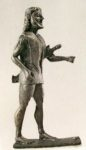 Spartaner - Statuette von einem Bronzekrater